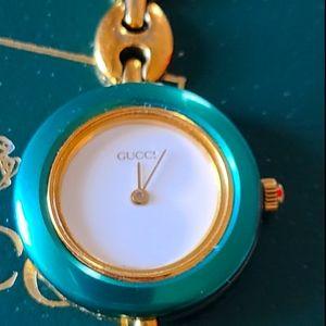 Vintage Gucci 11 12.2 Bezel 18KGP Interchang